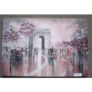 Cuadro estampado Paisaje del Arco del Triunfo de 60x90x2.5cm