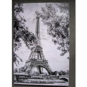 Cuadro estampado Paisaje Torre Eiffel de 100x150x3.8cm