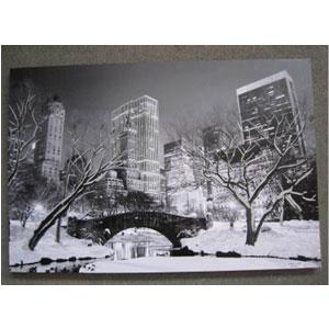 Cuadro estampado Paisaje de New York nevado de 100x150x3.8cm