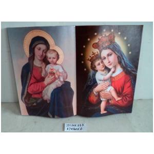 Cuadro diseño Libro estampado Virgen Maria con niño Jesus de 57x40x6cm