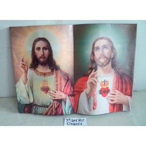 Cuadro diseño Libro estampado Sagrado Corazón de Jesus de 57x40x6cm