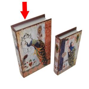 Caja/Portalibros diseño Pavorreal de 30x21.5x6.5cm