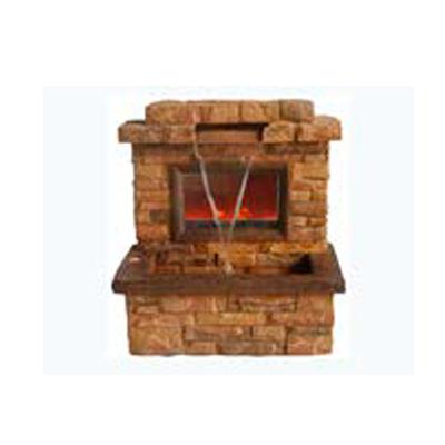 Fuente de mesa diseño chimenea de ladrillos de 61.5x36x63.5cm