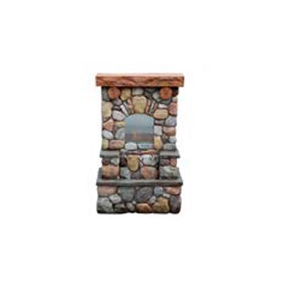 Fuente de mesa diseño chimenea de ladrillos de 64x34x98cm