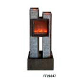 Fuente moderna de mesa diseño chimenea de 42x27x96.5cm