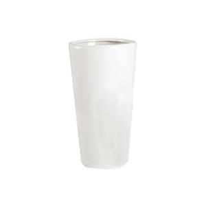 Maceta redonda de cerámica blanca de 33x54cm