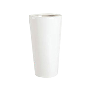 Maceta redonda de cerámica blanca de 26x48 cm
