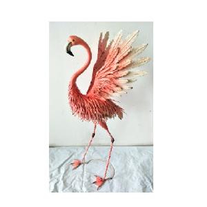 Flamingo de lámina de 63x55x128cm