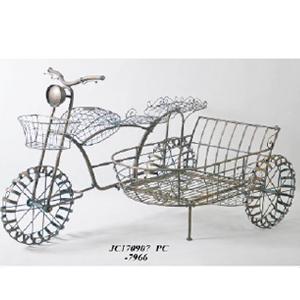 Motocicleta de metal con canastilla de 170x99x105cm