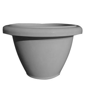 Maceta de plástico imitación porcelana gris de 45x34x34cm