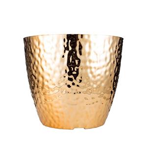 Maceta de plastico color dorada  de 41x33cm