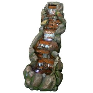 Fuente diseño escalinata de rocas de 200x70x100cm