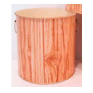 Maceta cilindrica de lamina diseño tronco de 19x18cm