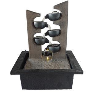 Fuente de poliresina caida zig-zag de 13x12x17cm