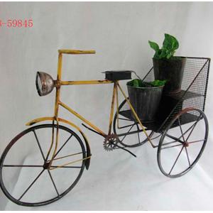 Porta macetas de metal solar diseño triciclo