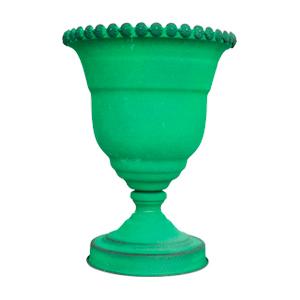 Florero diseño copa verde de 22.5x29cm