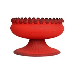 Florero diseño Vasija rojo de 18x13cm