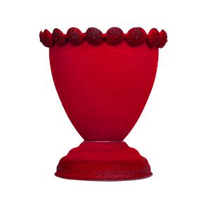 Florero diseño copa rojo de 10x12cm