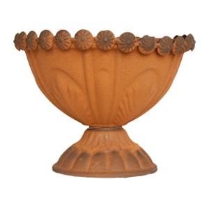 Florero diseño copa terminado antiguo de 15x12cm