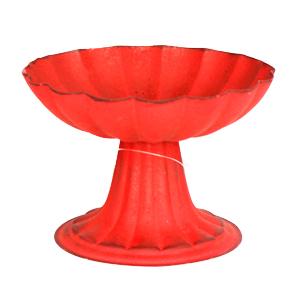 Frutero con base rojo de 17x11cm
