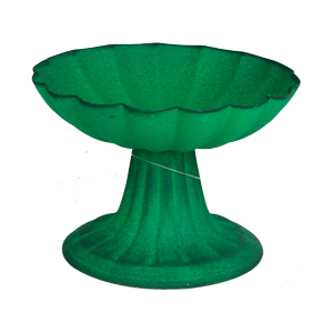 Frutero con base verde de 17x11cm