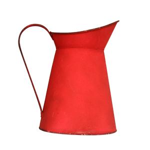Jarra de metal roja de 22.5x16x24cm