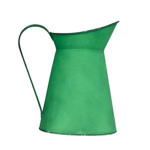 Jarra de metal verde de 22.5x16x24cm