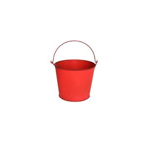 Cubeta de metal roja de 14x11cm