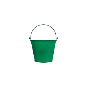 Cubeta de metal verde de 14x11cm