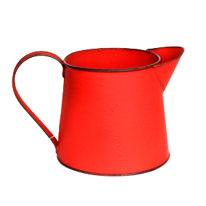 Maceta diseño Jarra roja de 19x12.5x11.5cm