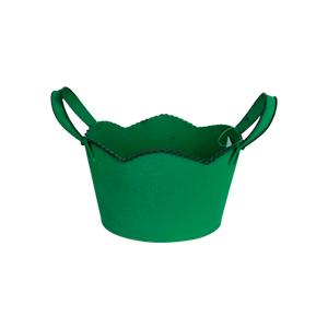 Maceta de lámina diseño tina verde de 21x19x11cm