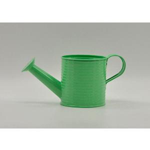 Regadera de lámina diseño a rallas verde de 10x10x10cm