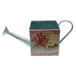 Maceta diseño regadera con estampado de flores de 14x14x13-33