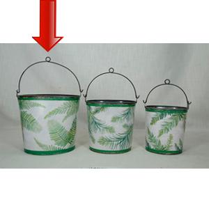 Cubeta de lámina blanca verde