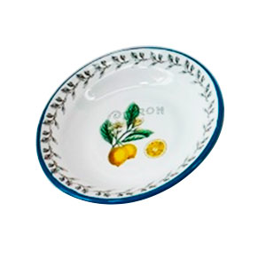 Plato de Peltre estampado limones de 34x34cm