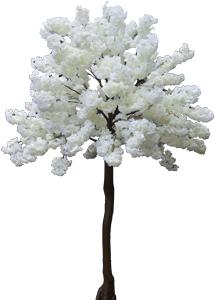 Arbol de flor de durazno blanco de 2.70m