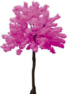 Arbol de flor de durazno rosa de 2.70m