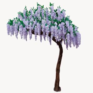 Árbol con flores moradas de 210cm