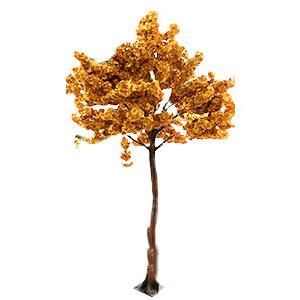 Árbol con flores doradas de 270cm