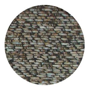 Plato de presentación de madera con incrustaciones de conchas rectangulares Cafes de 38x3cm