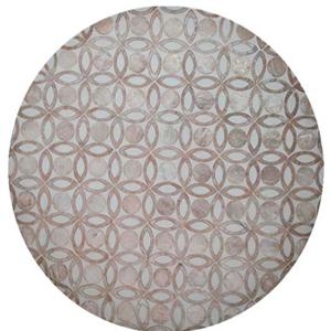 Plato de presentación de madera con incrustaciones de conchas diseño flor de 38x3cm