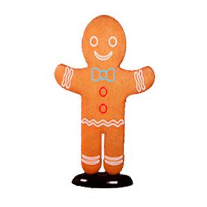 Figura de hombre galleta de jengibre de 147x33x195cm