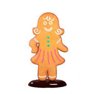 Figura de mujer galleta de jengibre de 95x32x172cm