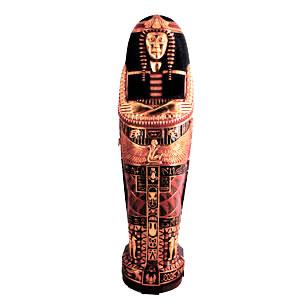 Figura de reina en sarcófago de 52x52x192cm