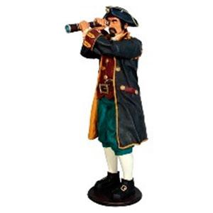 Pirata con catalejo de 81x74x186cm