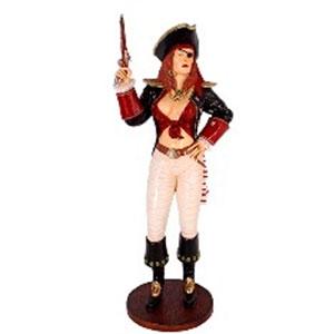 Mujer pirata con arma de 74x62x189cm