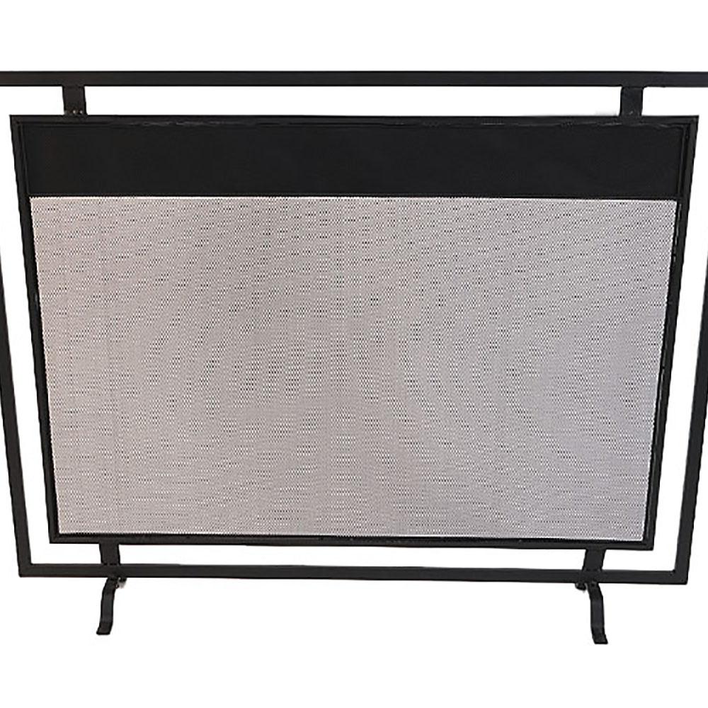 Pantalla rectangular para chimenea de 100x19x78cm
