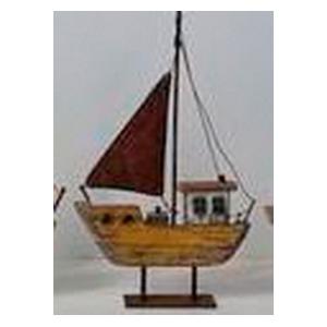 Decoración de Barco amarillo de 31x20x3.5cm