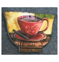 Porta calientes diseño Taza de café roja de 14x20cm