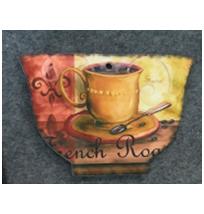 Porta calientes diseño Taza de café amarilla de 14x20cm